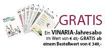 In Ihrem Wein-Versandpaket finden Sie gemeinsam mit Ihrer Rechnung alle weiteren Details zum Gratis-VINARIA-Jahresabo.