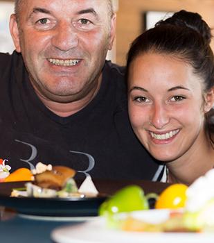 Ernst Moser mit Tochter Mathissa