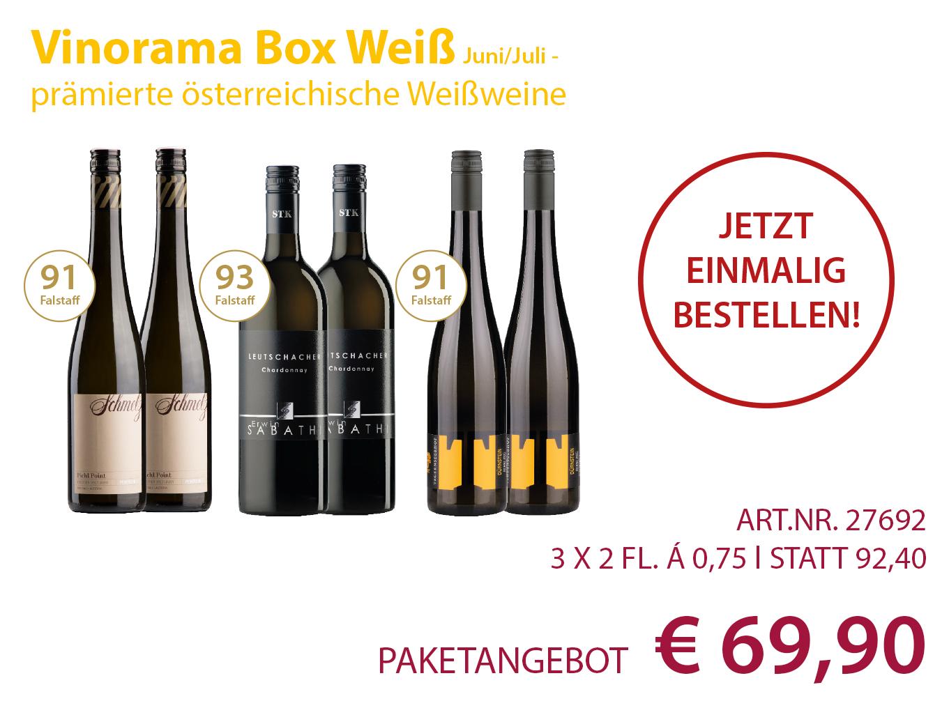 Vinorama Box Weiss einmalig