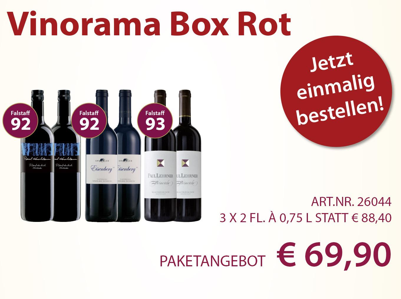 Vinorama Box Rot einmalig