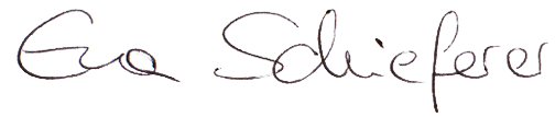 Unterschrift Eva Schieferer