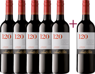 """120 Cabernet Sauvignon 2018"" 5+1 GRATIS Paket"
