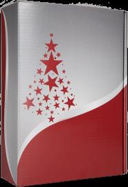 3er Geschenkkarton Christmas Bordeaux für 3 Flaschen 0,75 l