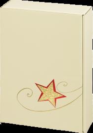 3er Geschenkkarton Creme Goldstern für 3 Flaschen 0,75 l