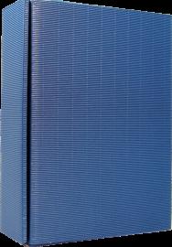 3er Geschenkkarton Modern Blau für 3 Flaschen 0,75 l