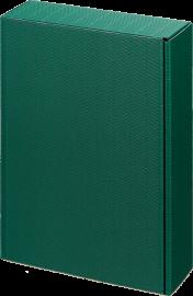 3er Geschenkkarton Modern Grün für 3 Flaschen 0,75 l