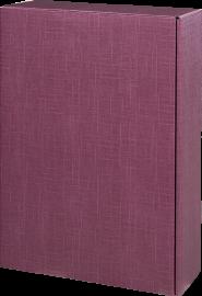 Geschenkkarton Aubergine für 3 Flaschen 0,75 l