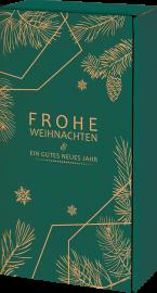 Geschenkkarton Tannengrün für 2 Flaschen 0,75 l