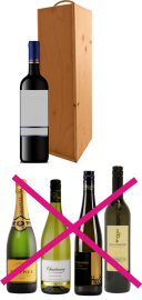Holzkiste für 1 Flasche 0,75 l