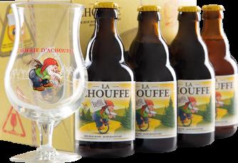 La Chouffe Geschenkset mit Bierglas